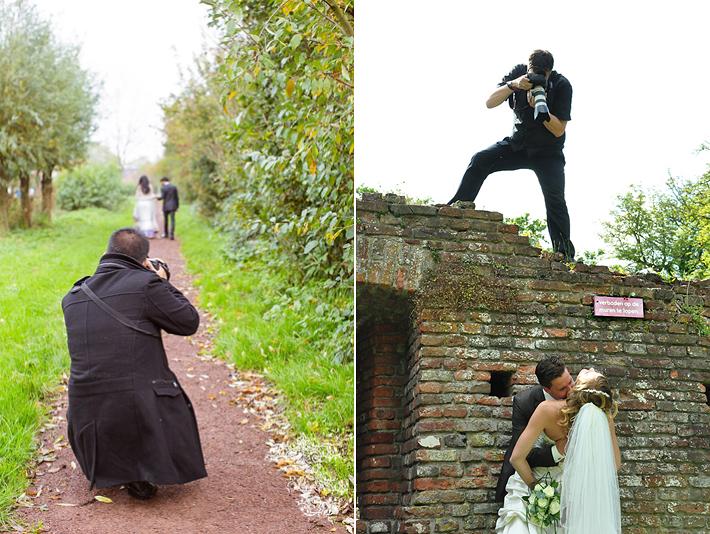2 fotografen die in actie zijn.